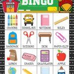 Free Printable Back To School Bingo Game Cards | School | Back To   Free Printable Back To School