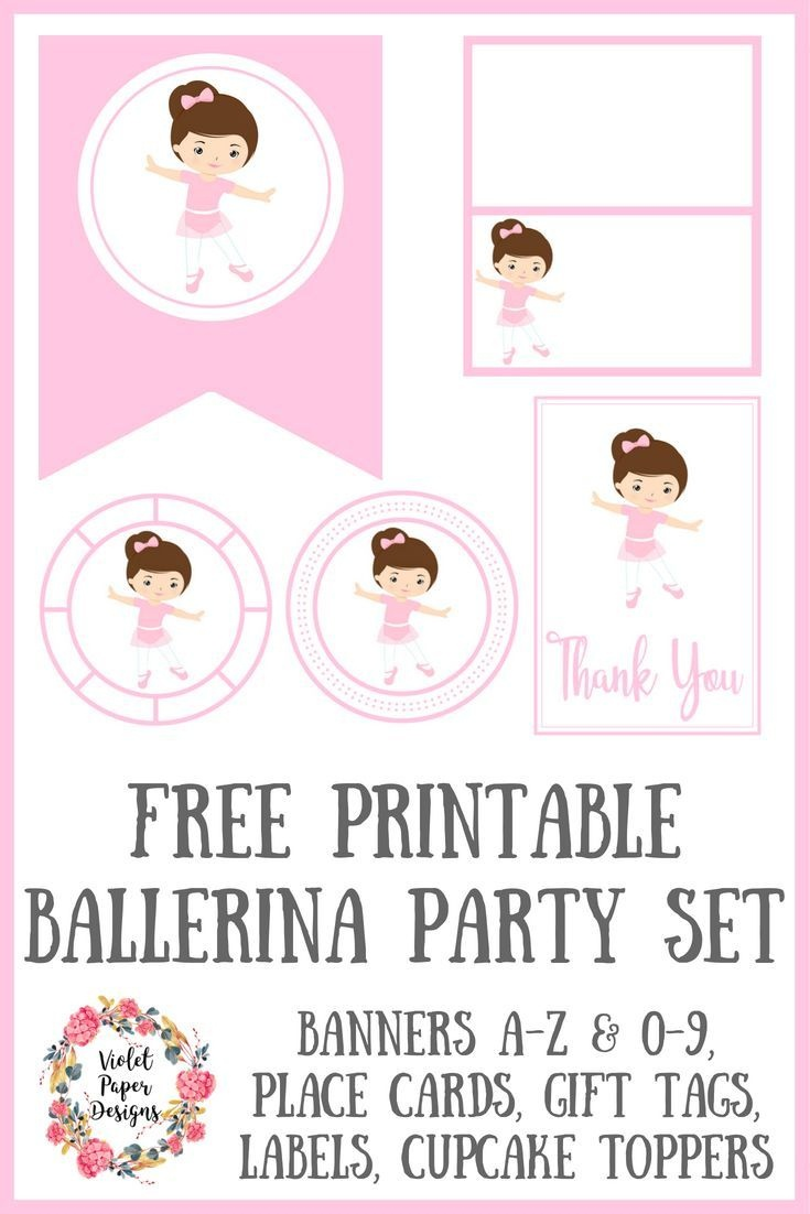 Free Printable Ballerina Party Set | Planners, Printables And - Free Printable Ballerina Birthday Invitations