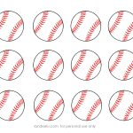Free Printable Baseball Clip Art Images | Inch Circle Punch Or   Free Printable Softball Images