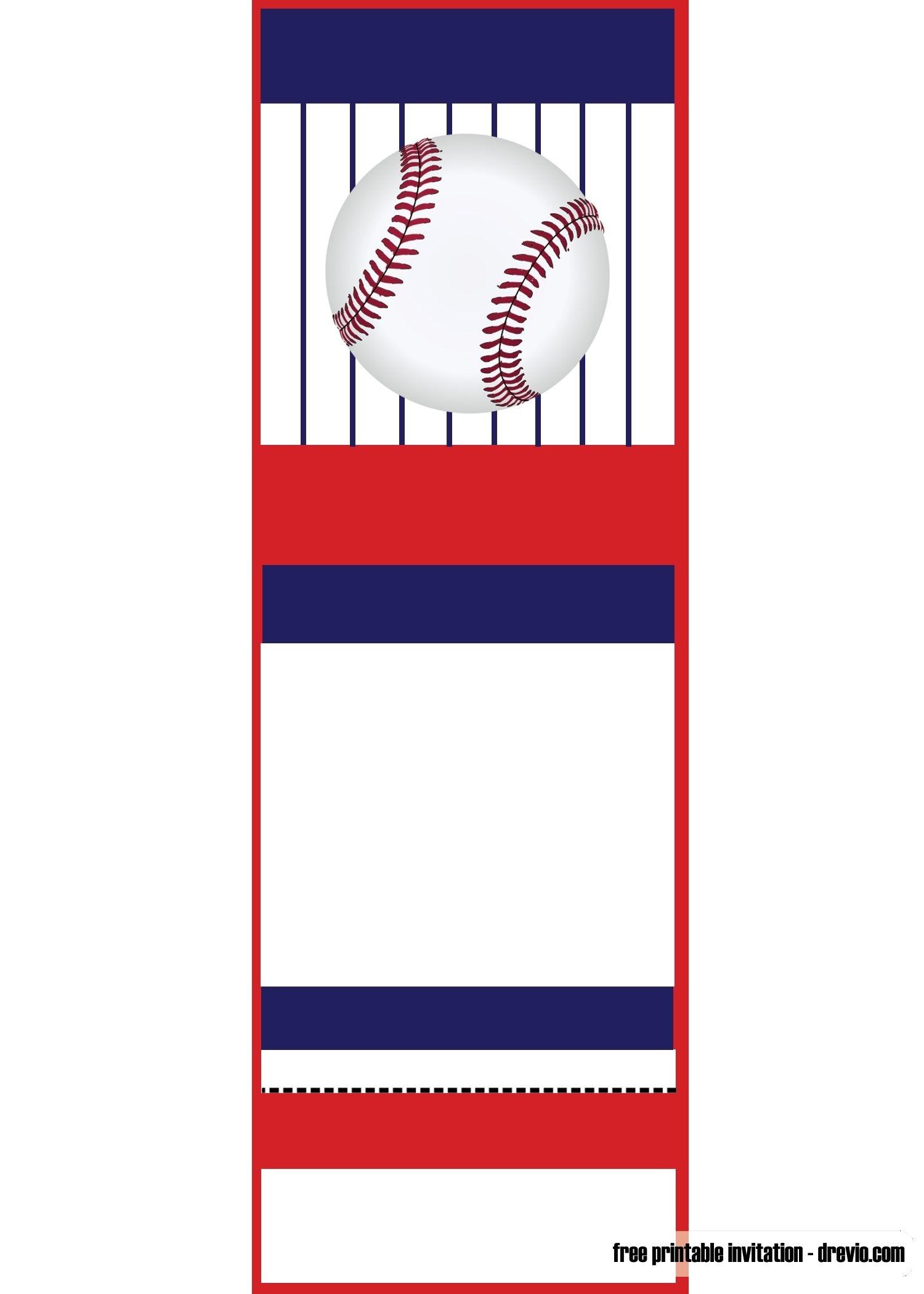 Free Printable Baseball Ticket Invitation Template | Free Printable - Free Printable Baseball Favor Tags