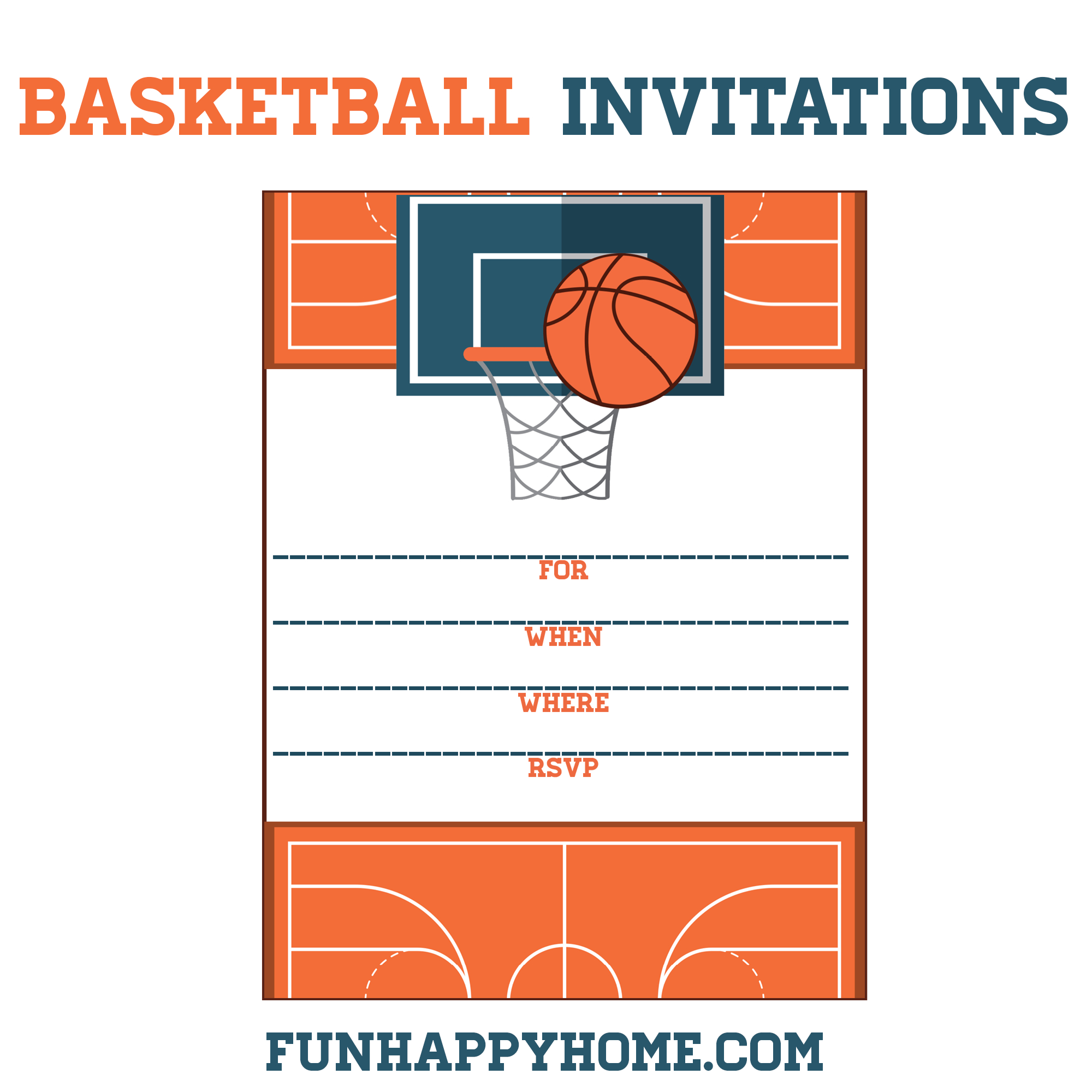 Free Printable Basketball Themed Party Invitations | Best Of - Sports Birthday Cards Free Printable