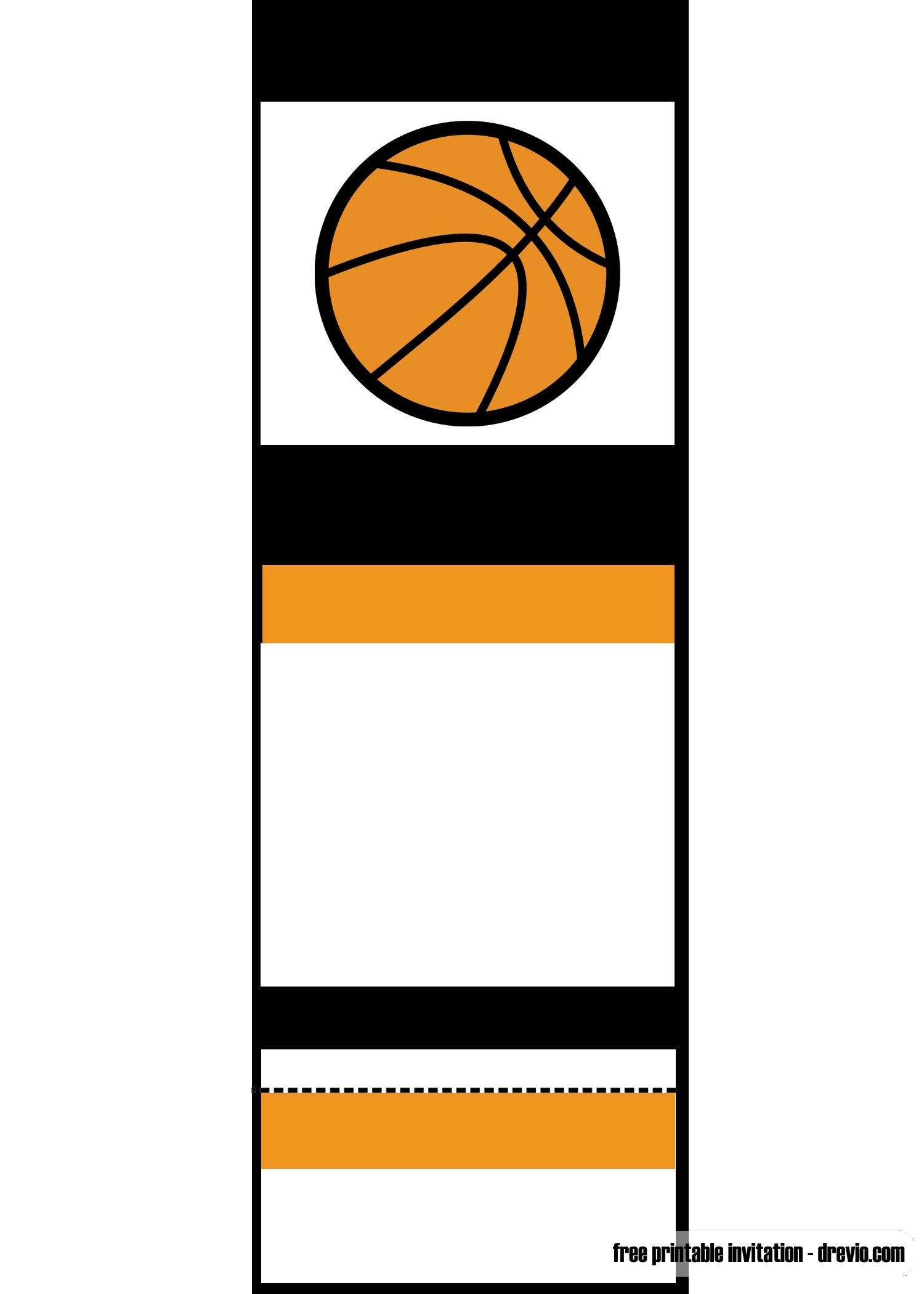 Free Printable Basketball Ticket Invitation | Unc Vs Gonzaga - Free Printable Sports Birthday Invitation Templates