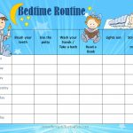 Free Printable Bedtime Routine Chart | Customize Online Then Print   Free Printable Bedtime Routine Chart
