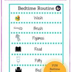 Free Printable Bedtime Routine Chart For Little Kids And Toddlers   Free Printable Bedtime Routine Chart