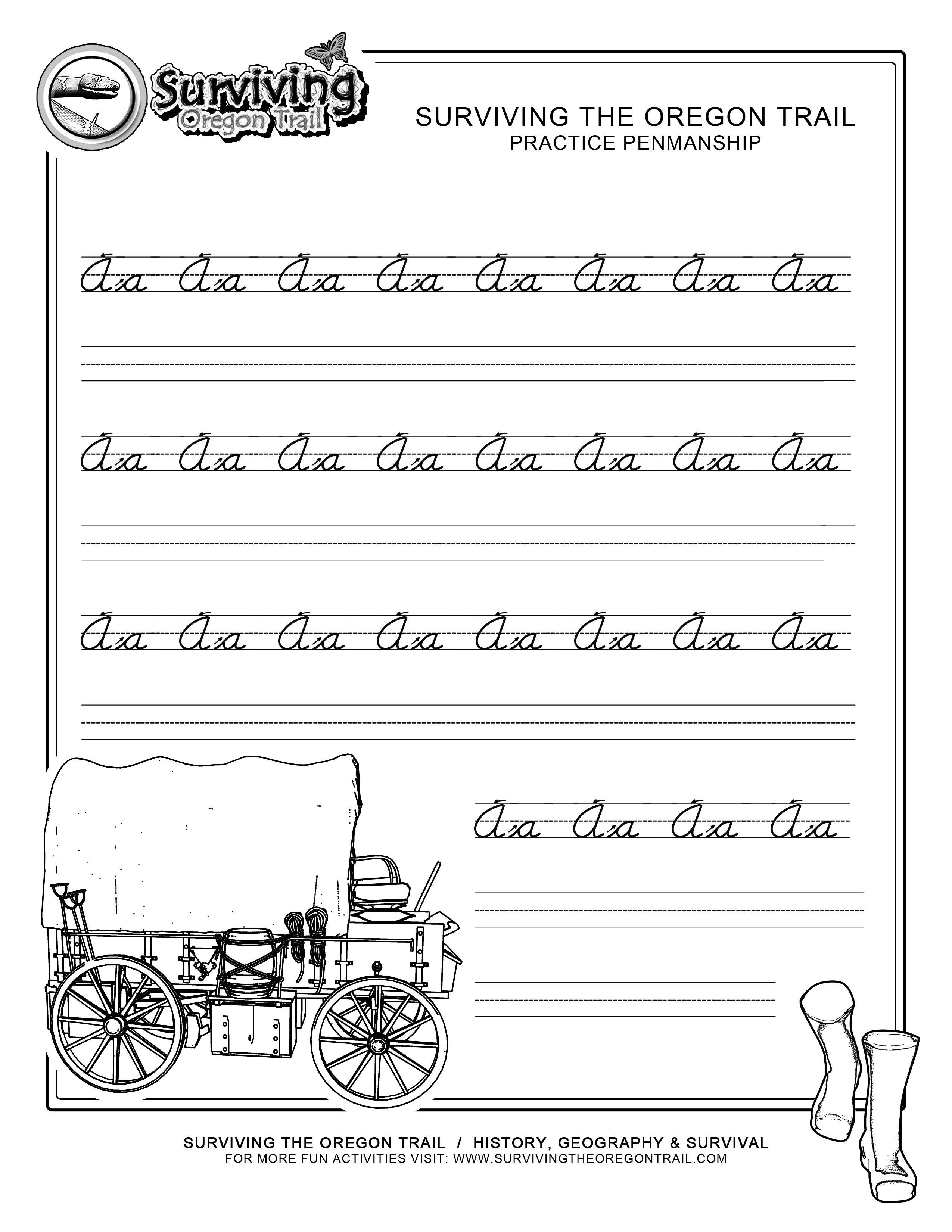 Free Printable Beginner Practice Cursive Worksheet – A A Only - Free Printable Cursive Worksheets