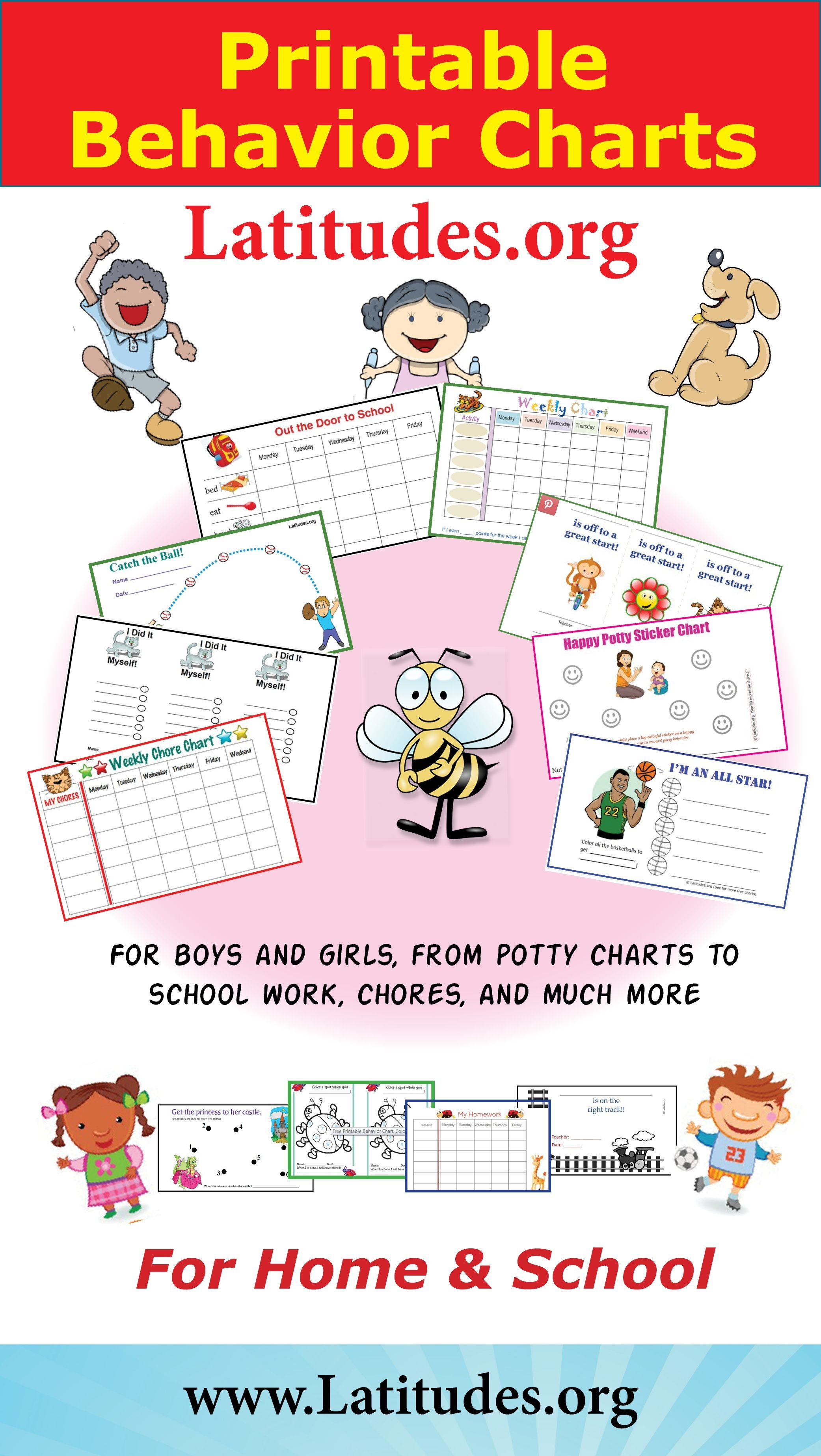 Free Printable Behavior Charts For Home And School   Behavior Charts - Free Printable Behaviour Charts For Home