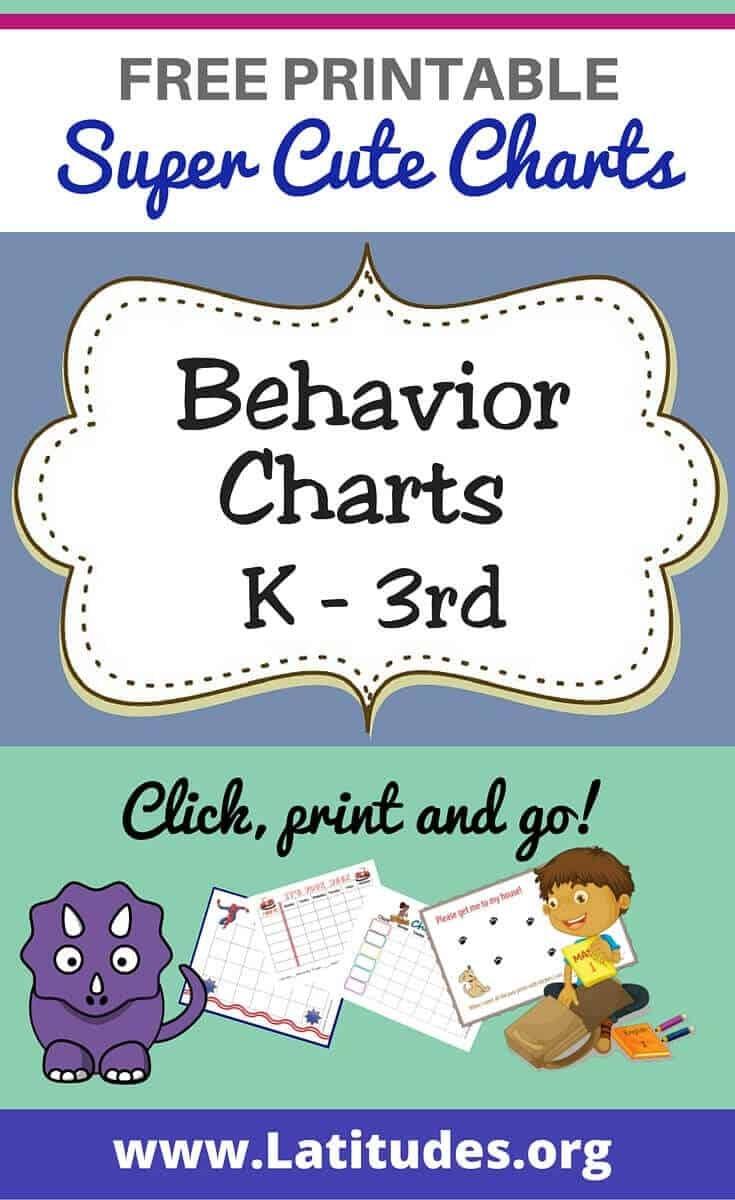 Free Printable Behavior Charts For Teachers & Students (Kindergarten - Free Printable Charts For Classroom