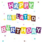 Free Printable Belated #birthday #card #birthday #birthdayparty   Customized Birthday Cards Free Printable