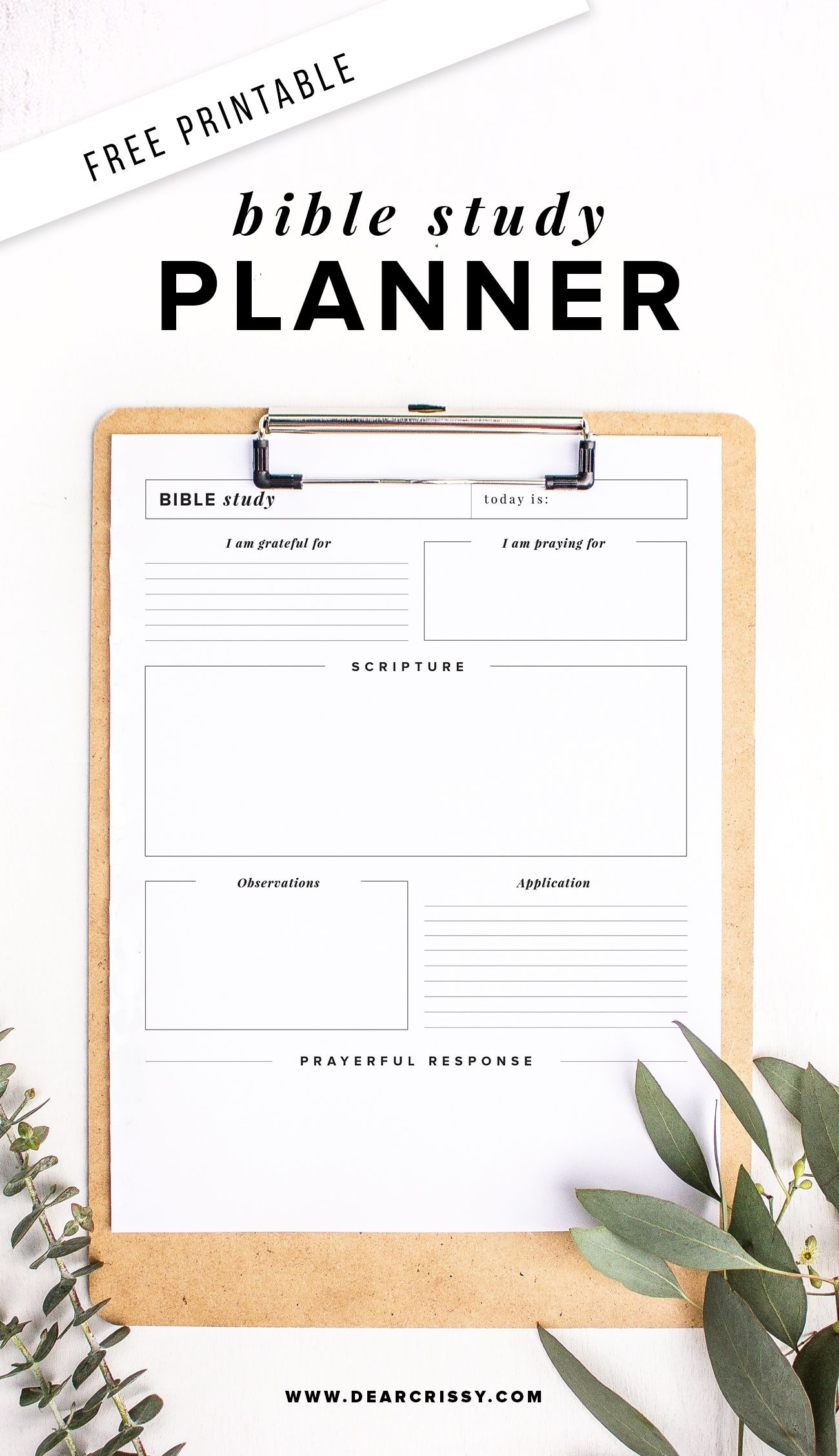 Free Printable Bible Study Planner - Soap Method Bible Study - Free Printable Bible Study Guides