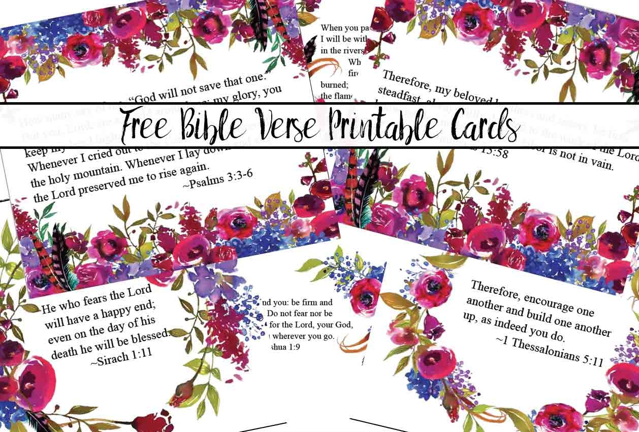 Free Printable Bible Verse Cards For When You Need Encouragement - Free Printable Scripture Cards
