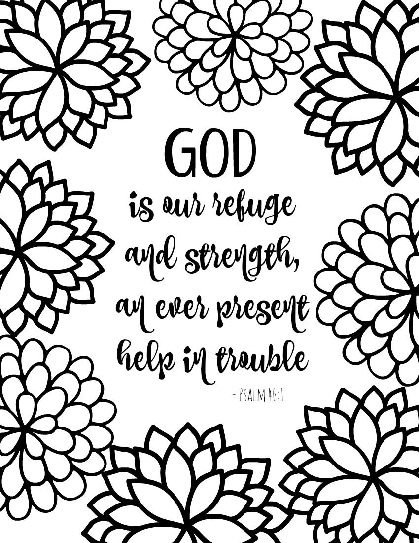 Free Printable Bible Verse Coloring Pages With Bursting Blossoms - Free Printable Sunday School Coloring Pages