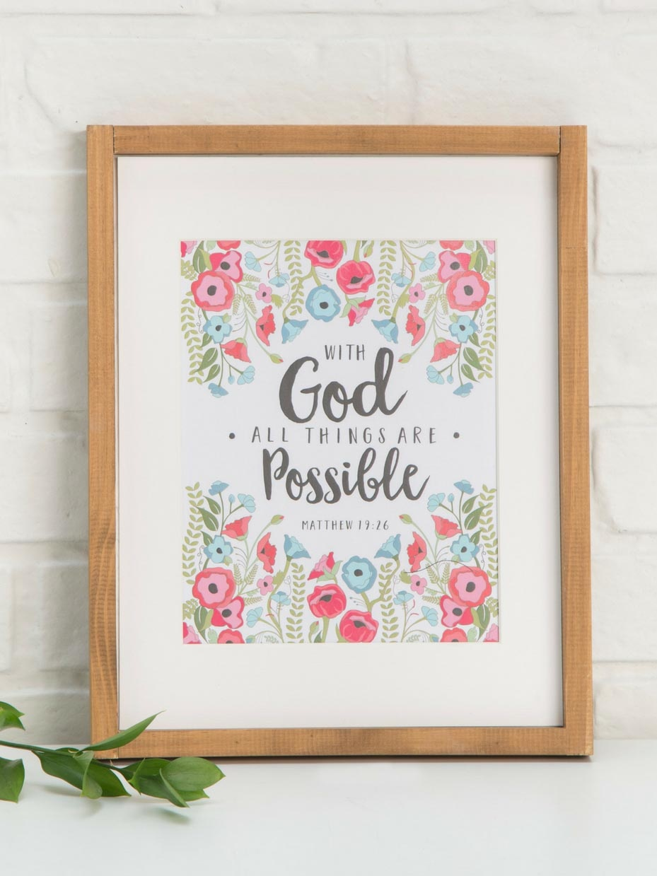 Free Printable Bible Verse Wall Art | Fun365 - Free Printable Bible Verses To Frame