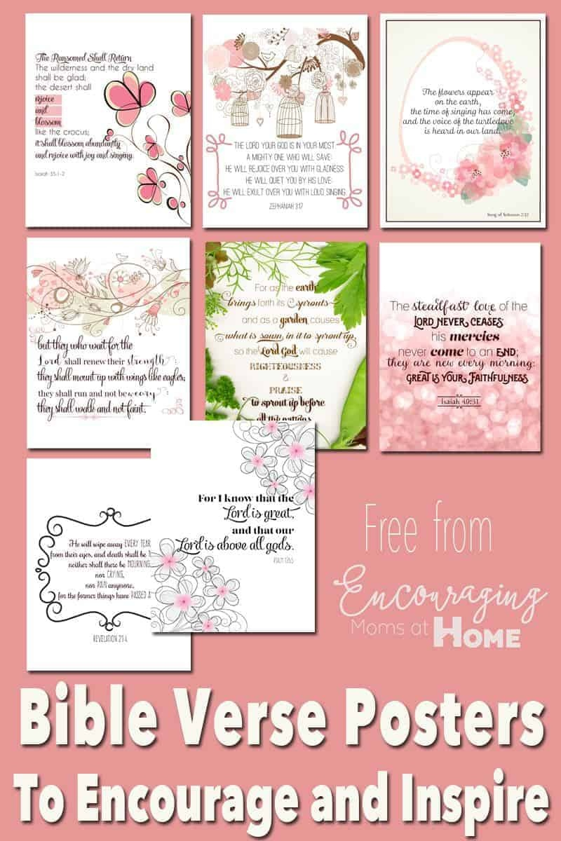 Free Printable Bible Verses To Encourage And Inspire Homeschool Moms - Free Printable Bible Verses