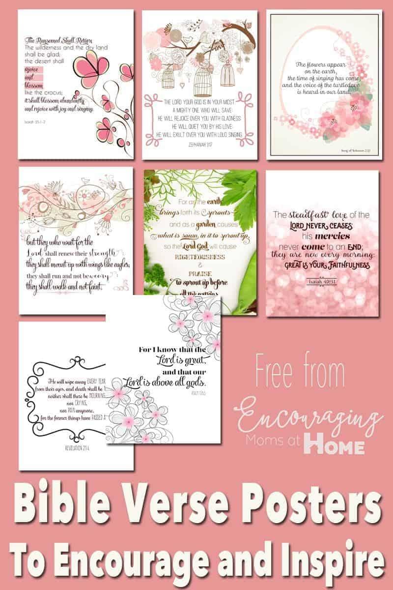 Free Printable Bible Verses To Encourage And Inspire Homeschool Moms - Free Printable Scripture Verses