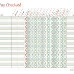 Free Printable Bill Pay Calendar Templates   Free Printable Bill Checklist