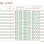 Free Printable Bill Pay Calendar Templates   Free Printable Bill Payment Checklist