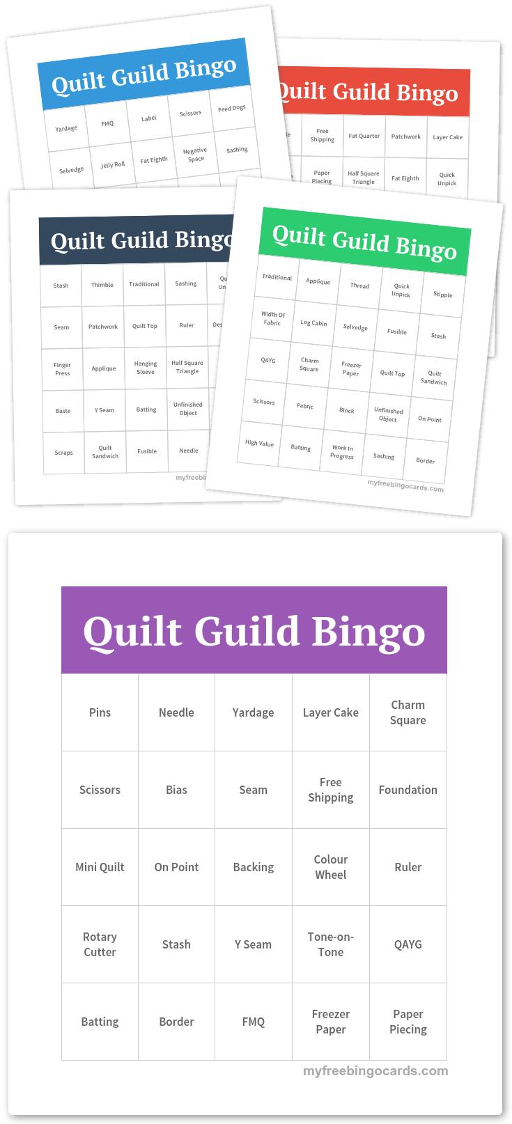Free Printable Bingo Cards | Bingo Quilt Games | Free Bingo Cards - Free Printable Parts Of Speech Bingo