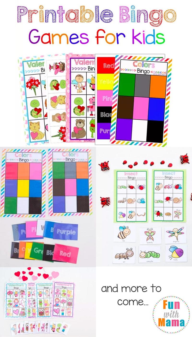 Free Printable Bingo Cards For Kids - Fun With Mama - Free Printables For Kids