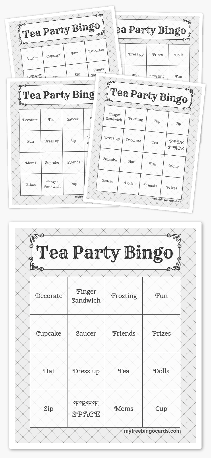 Free Printable Bingo Cards In 2019 | Printables | Harry Potter Games - Free Printable Tea Party Games