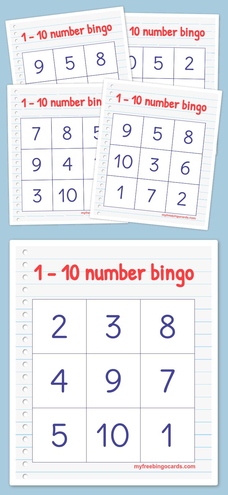 Free Printable Bingo Cards | Math | Kindergarten Math, Preschool - Math Bingo Free Printable