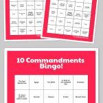 Free Printable Bingo Cards | The 10 Commandments | Sunday School   Bible Bingo Free Printables