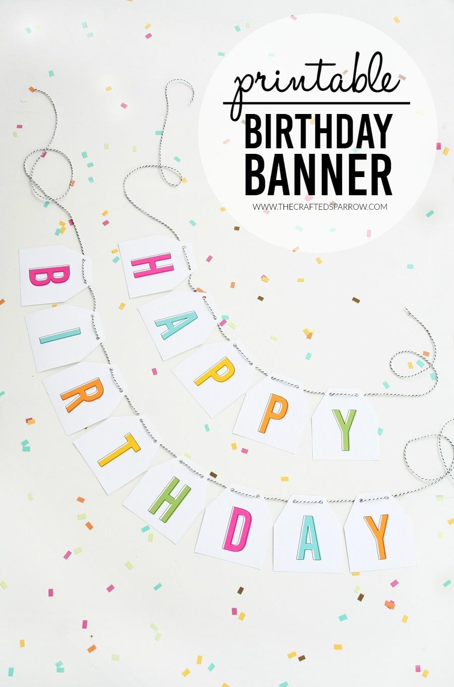 Free Printable Birthday Banner - Diy Birthday Banner Free Printable
