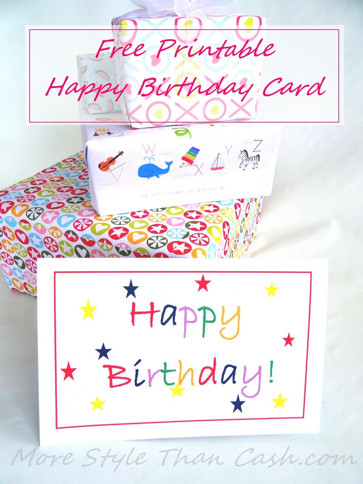 Free Printable Birthday Card - Free Printable Birthday Cards For Wife