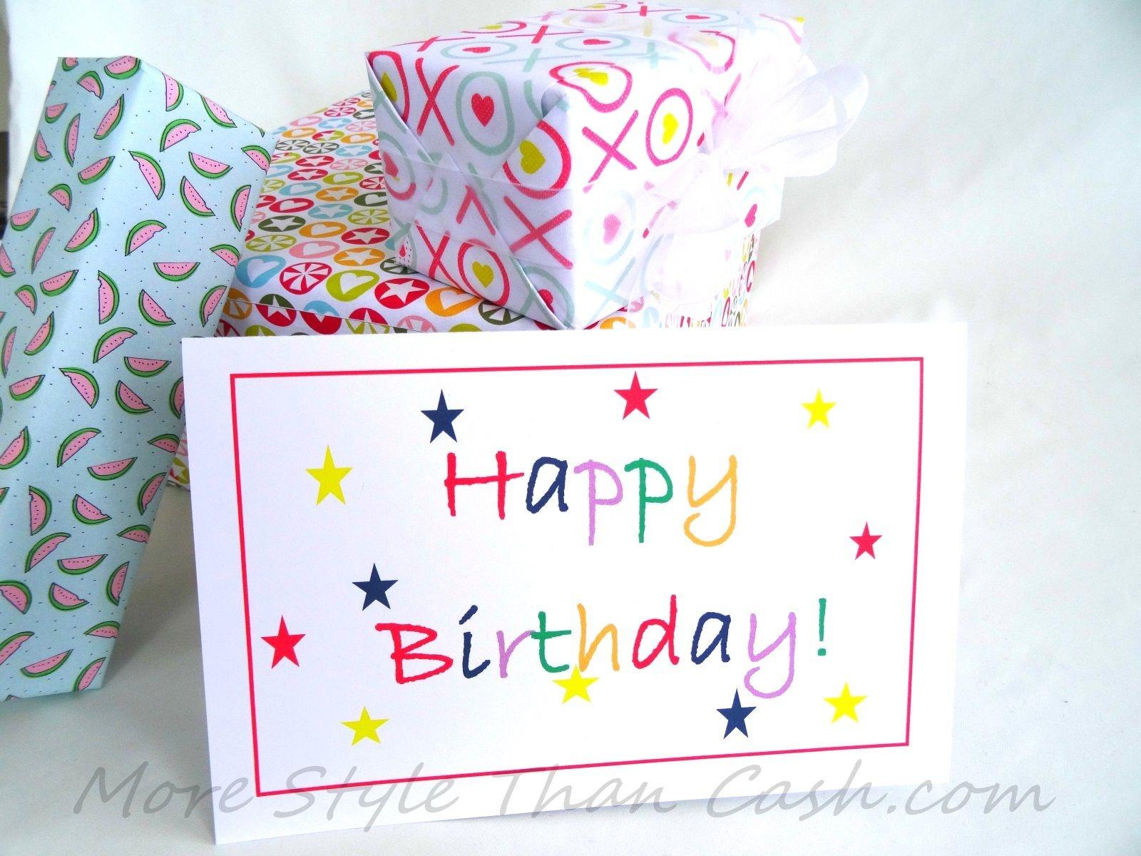 Free Printable Birthday Card   Great Teacher Stuff!!!   Free - Free Printable Birthday Cards For Her