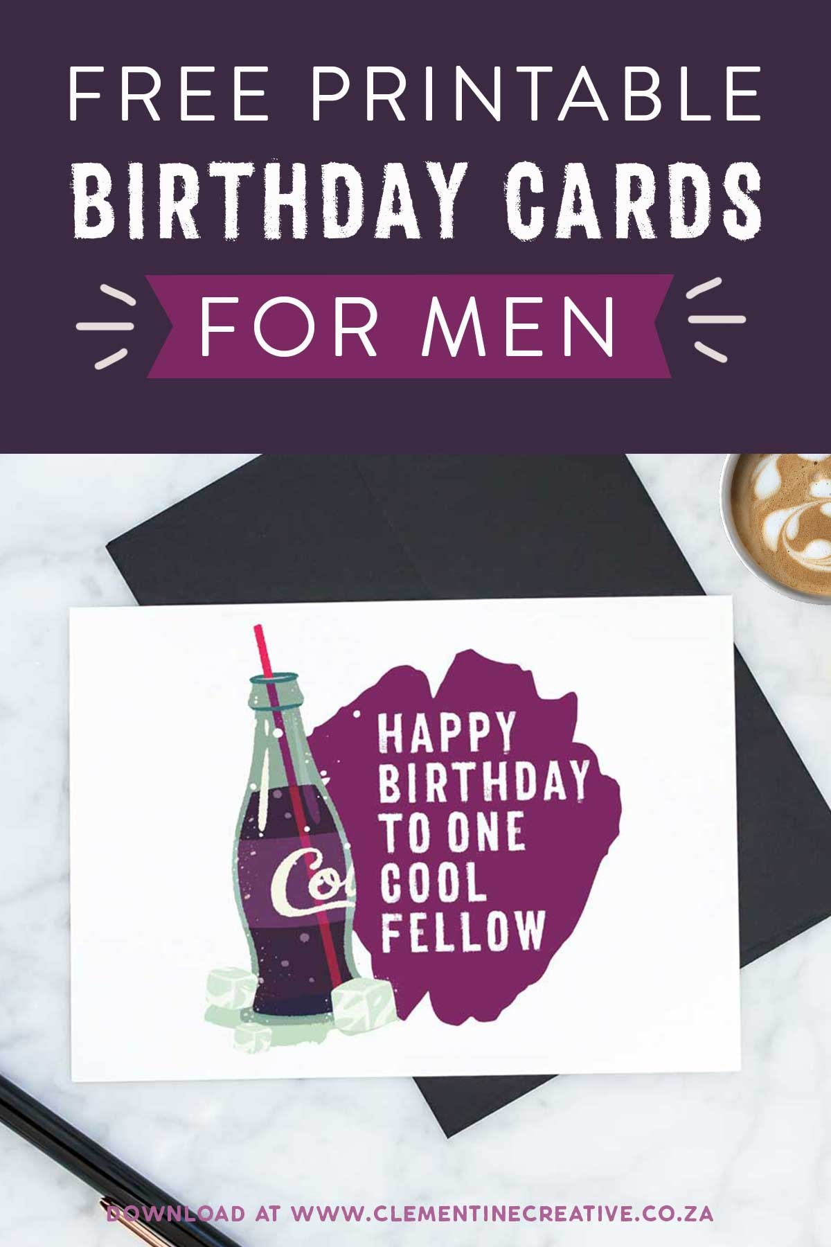 Free Printable Birthday Cards For Him   Stay Cool - Free Printable Personalized Birthday Cards