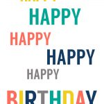 Free Printable Birthday Cards   Paper Trail Design   Happy Birthday Free Printable