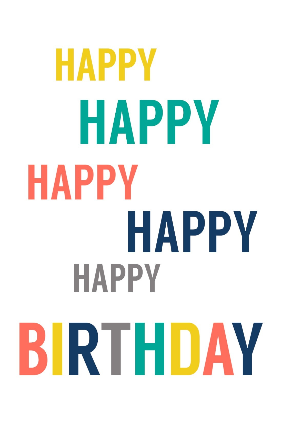 Free Printable Birthday Cards - Paper Trail Design - Happy Birthday Free Printable