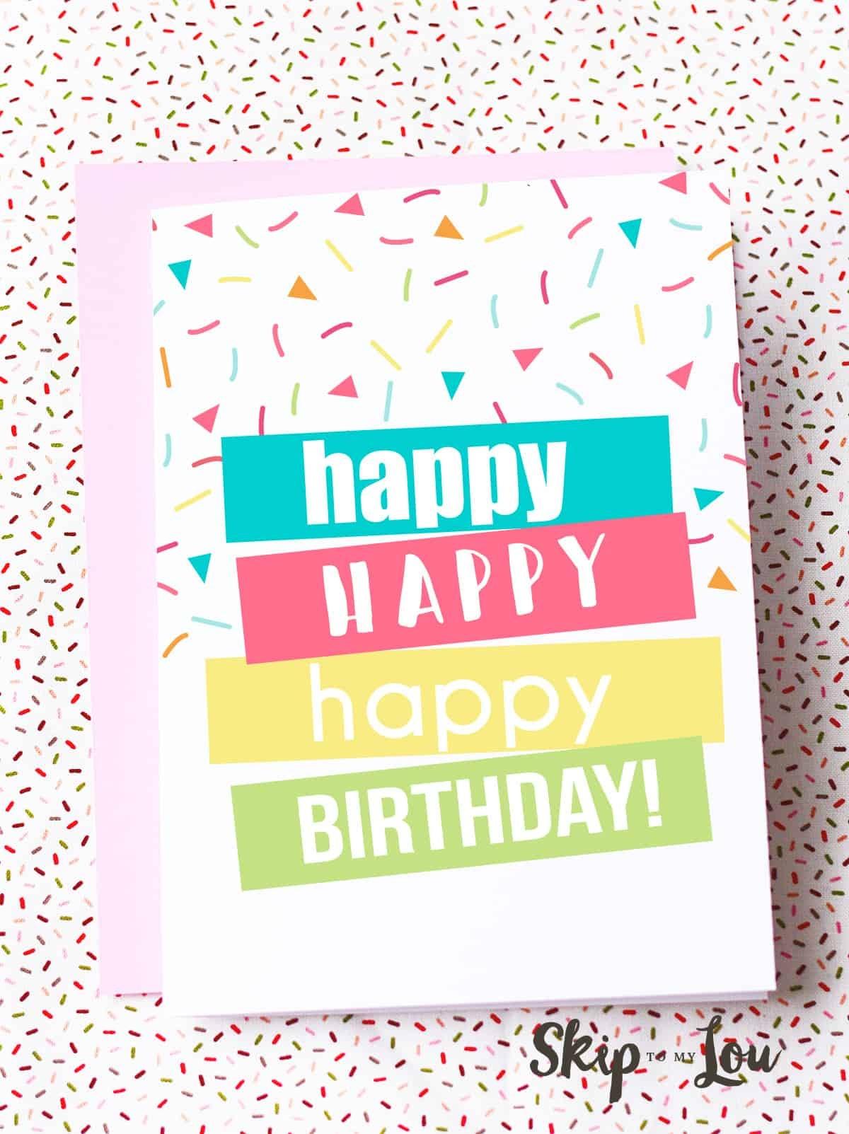 Free Printable Birthday Cards   Skip To My Lou - Free Printable Birthday Cards For Her