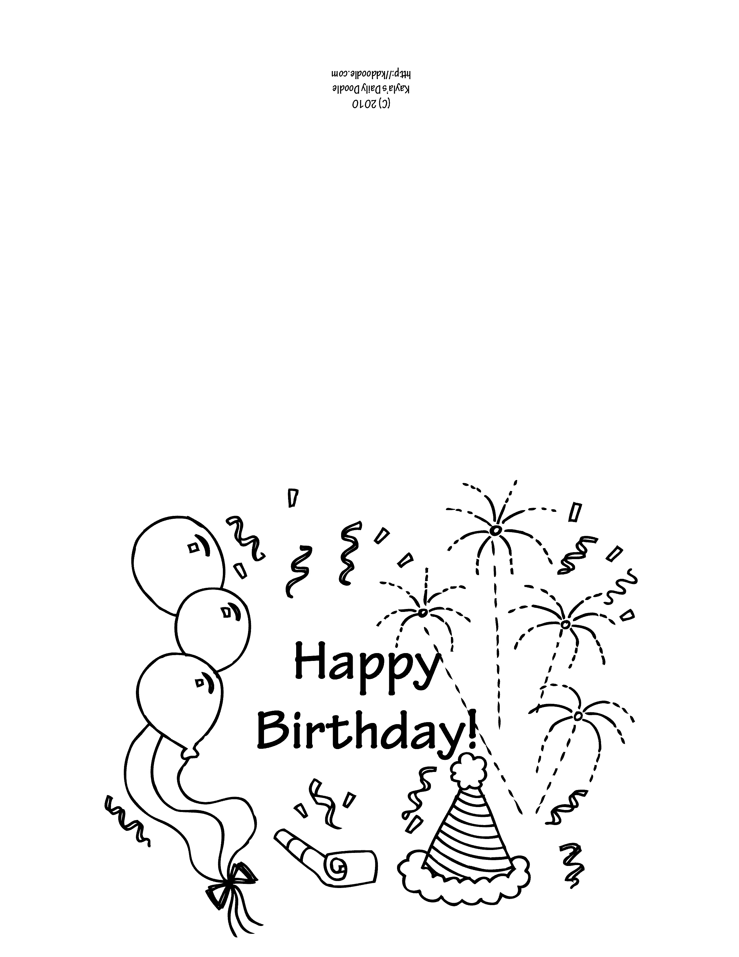 Free Printable Birthday Cards To Color (65+ Images In Collection) Page 2 - Free Printable Birthday Cards To Color