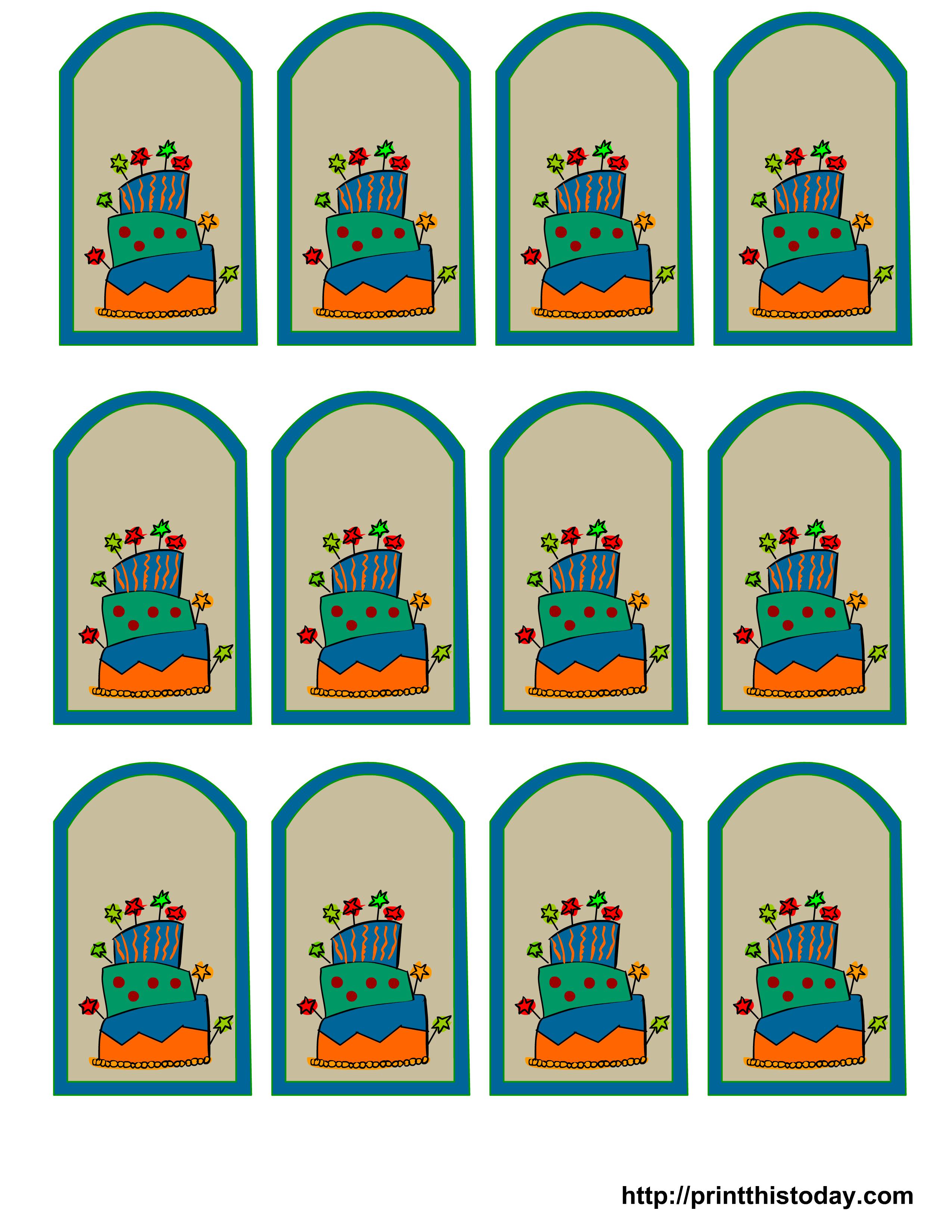 Free Printable Birthday Favor Tags - Free Printable Birthday Tag Templates