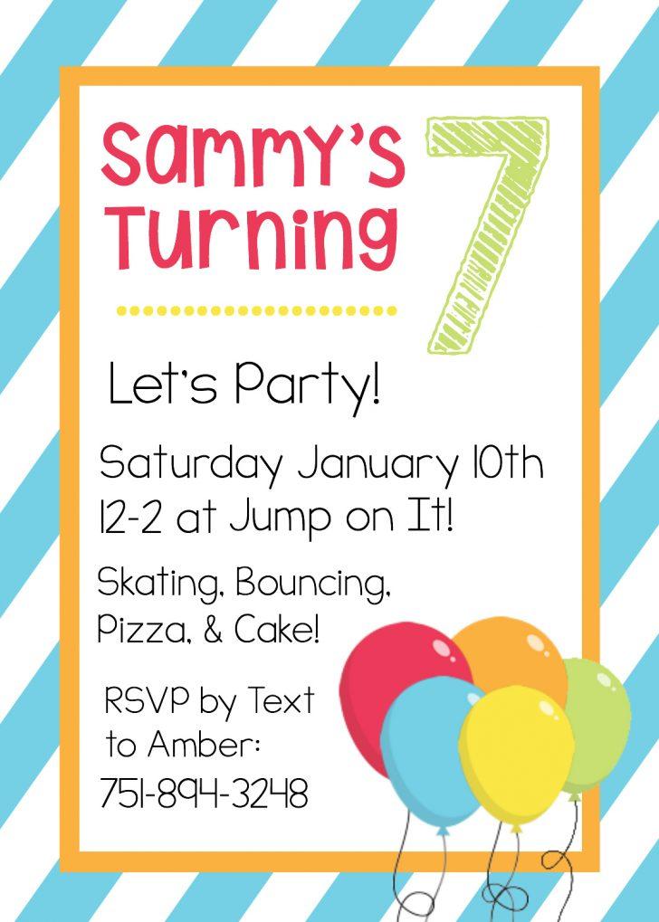 Free Printable Girl Birthday Invitations