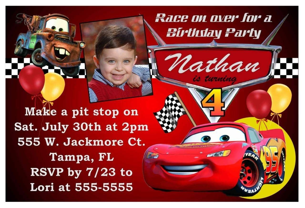 Free Printable Birthday Invitations Cars Theme | Cars In 2019 | Cars - Free Printable Birthday Invitations Cars Theme