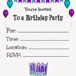Free Printable Birthday Invitations For Kids #freeprintables   Free Printable Girl Birthday Party Invitations
