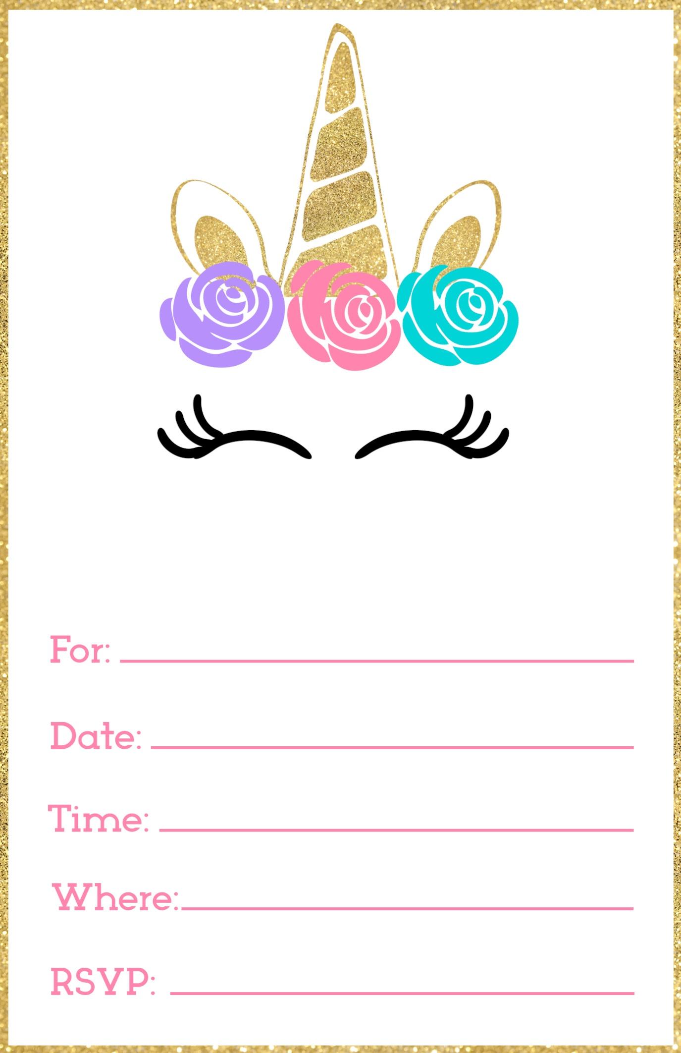 Free Printable Birthday Party Invitations - Granizmondal - Free Printable Birthday Party Invitations