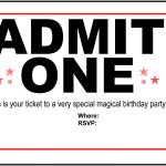 Free Printable Birthday Party Invitations   Kansas Magician | Magic   Free Printable Movie Ticket Birthday Party Invitations