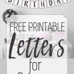 Free Printable Black And White Banner Letters | Printables   Free Happy Birthday Printable Letters