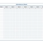 Free Printable Blank Attendance Sheets | Attendance Sheet   Free Printable Attendance Sheets For Homeschool