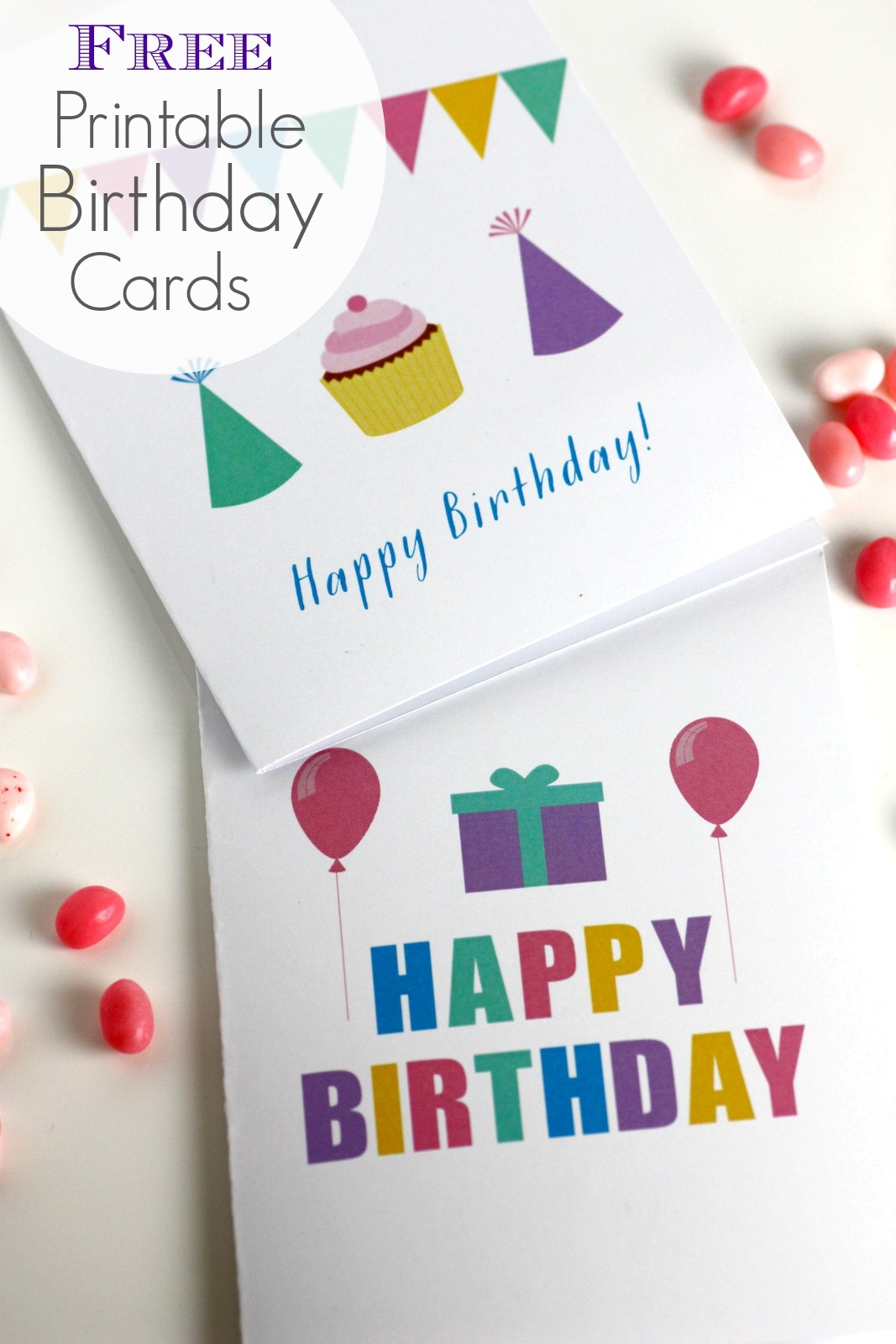 Free Printable Blank Birthday Cards | Catch My Party - Free Printable Personalized Birthday Cards