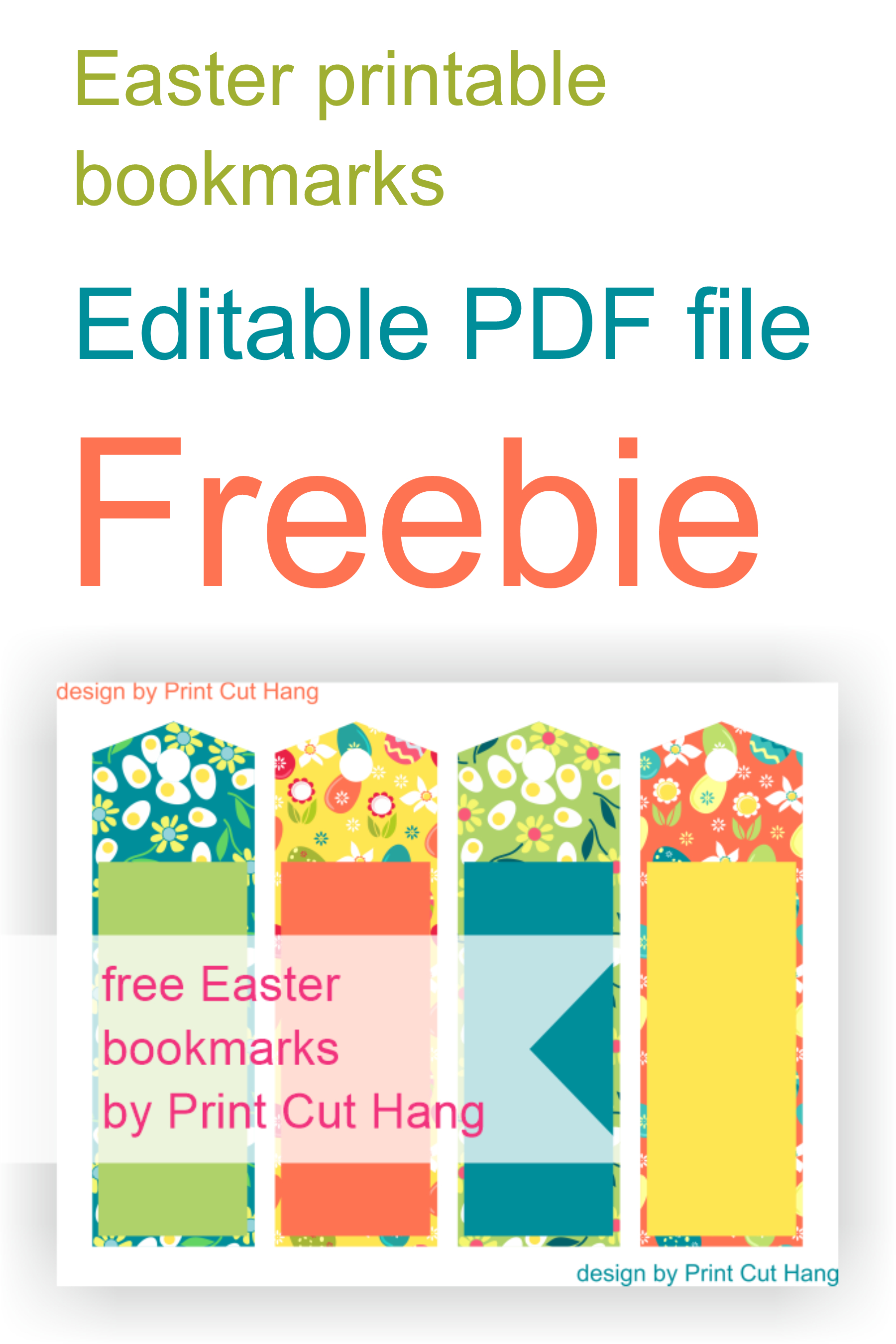 Free #printable #bookmarks #download #easter #editable #pdf - Free Printable Bookmarks Pdf