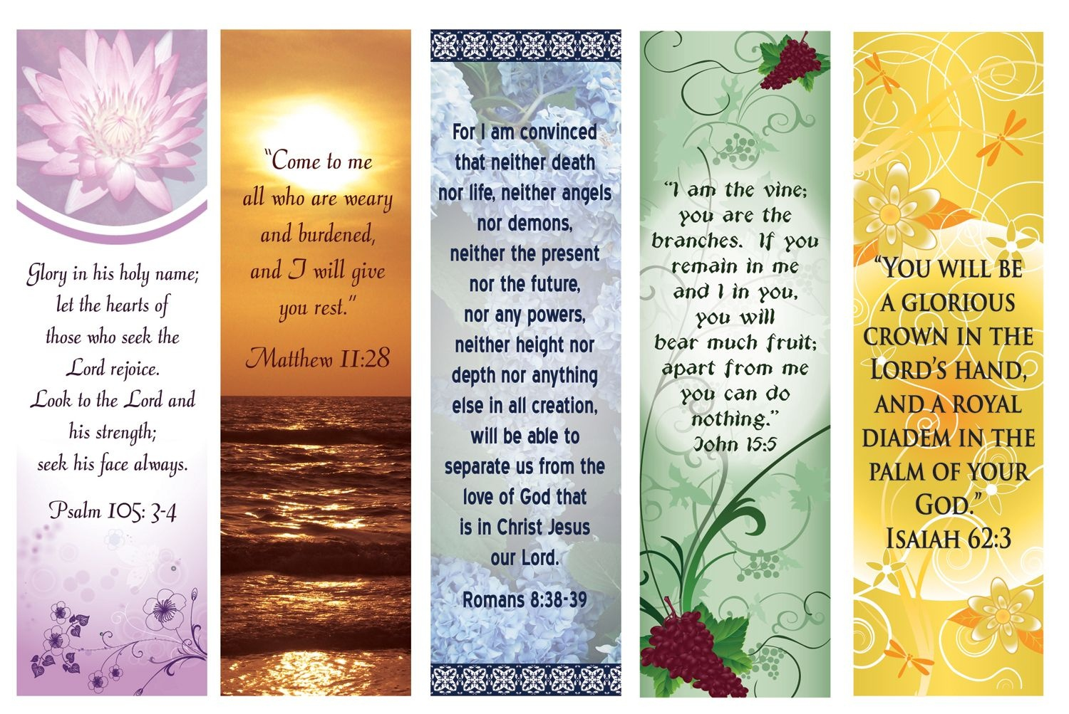 Free Printable Bookmarks With Bible Verses | Bookmarks | Free - Free Printable Bible Bookmarks Templates