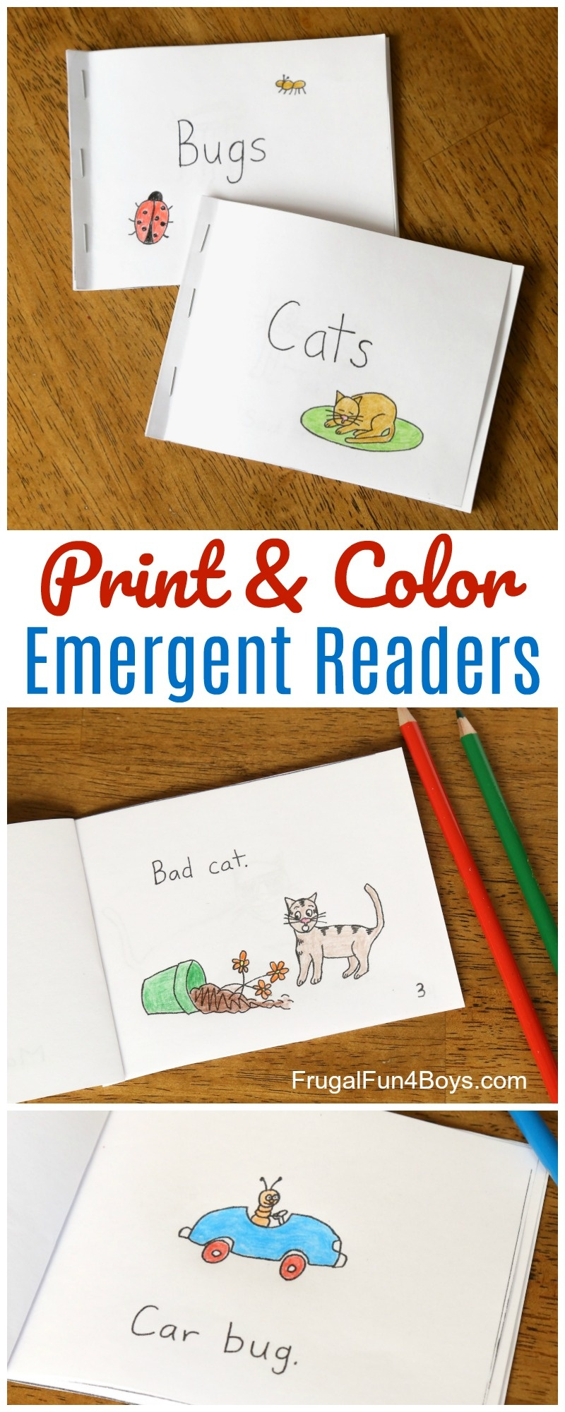 Free Printable Books For Beginning Readers - Level 1 (Easy) - Frugal - Free Printable Reading Books For Preschool