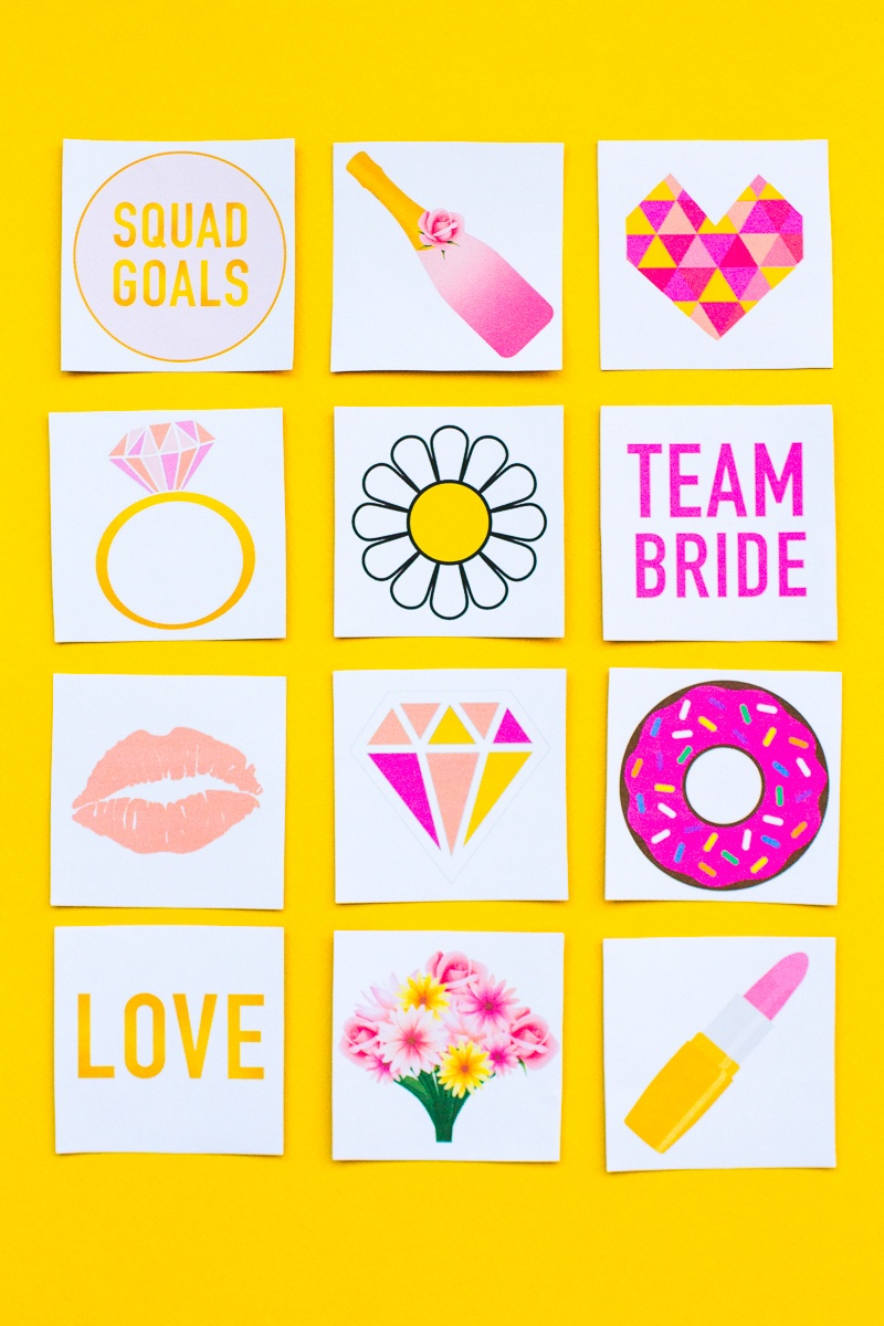 Free Printable Bridal Shower Memory Game | Bespoke-Bride: Wedding Blog - Free Printable Photo Booth Props Bridal Shower