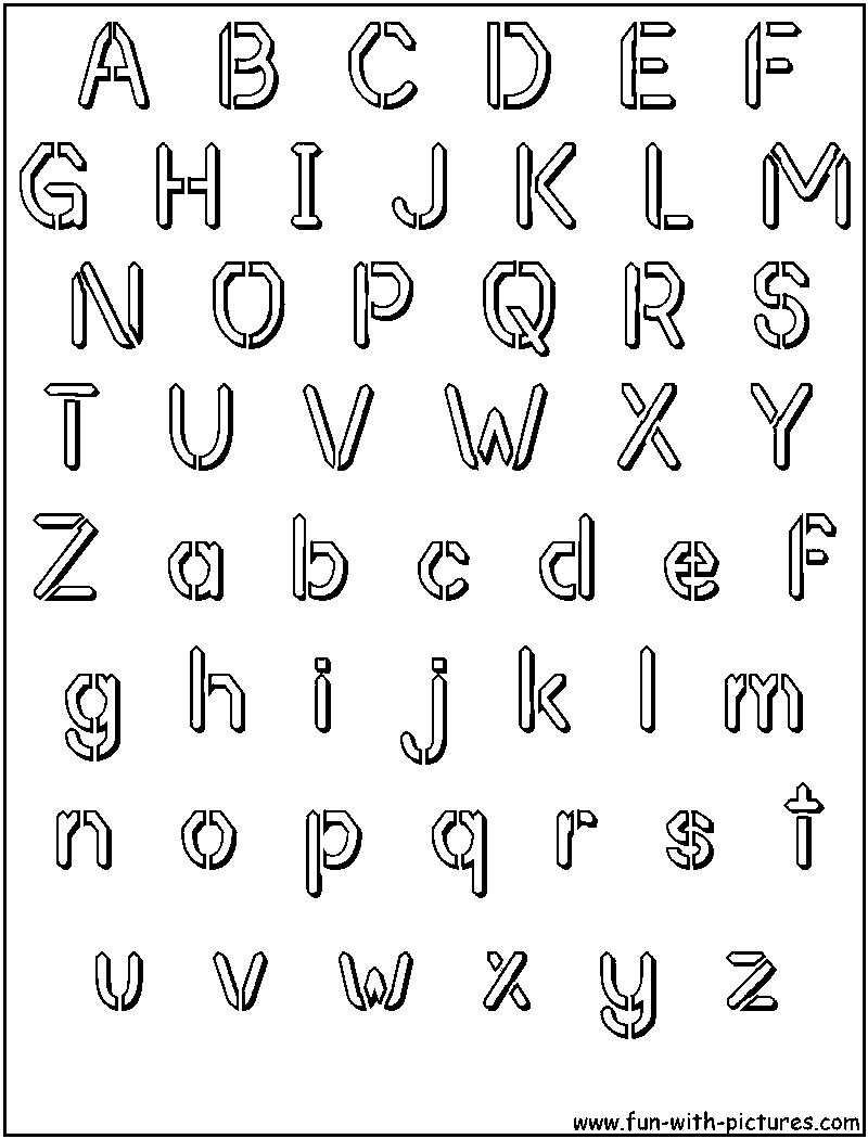 Free Printable Bubble Letter Alphabet Stencils | Crafts | Alphabet - Free Printable Bubble Letters Font