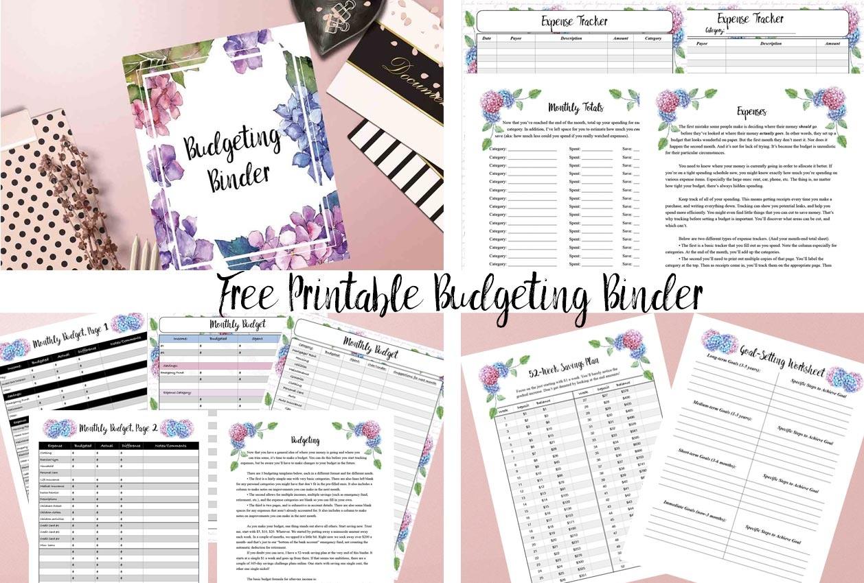 Free Printable Budgeting Binder: 15+ Pages! - Budget Binder Printables 2018 Free