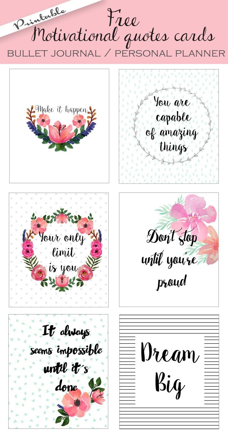 Free Printable Bullet Journal Cards. Personal Planner Cards - Free Printable Images