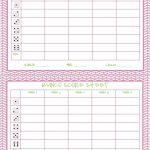 Free Printable Bunco Score Sheets Only | Feel Free To Print It Out   Free Printable Halloween Bunco Score Sheets